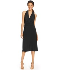 Styleandco. Style And Co. Sleeveless Halter A Line Dress Black