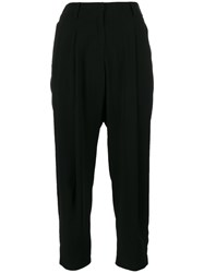 Alberto Biani Cropped Trousers Women Acetate Triacetate Viscose Polyester 38 Black