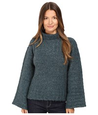 See By Chloe Chine Turtleneck Sweater Frosty Green
