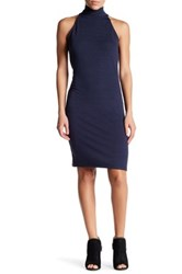 Research And Design Sleeveless Turtleneck Dress Blue