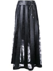 Christopher Kane Leather Effect Lace Skirt Black