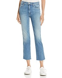 Mother Rascal Frayed Ankle Jeans In Lucky Strike