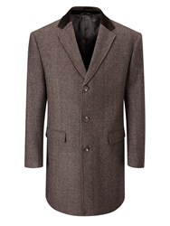 Skopes Men's Greenwich Overcoat Brown