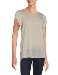French Connection Solid Cap Sleeve Top Shale