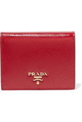 Prada Patent Textured Leather Wallet One Size
