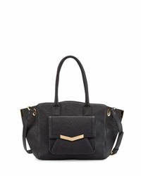 Time's Arrow Jo Medium Leather Tote Bag Onyx