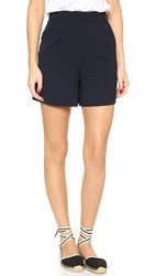 James Jeans Wide Leg Trouser Shorts Midnight Crepe