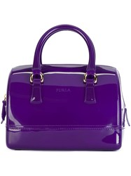 Furla Mini 'Candy' Tote Pink And Purple