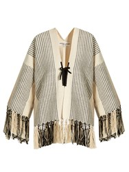 Apiece Apart Chan Chan Fringed Jacket Cream Multi