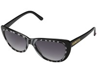 Betsey Johnson Zebra Inner Frame Black Fashion Sunglasses