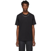 Neil Barrett Black Travel Jersey Necklace T Shirt