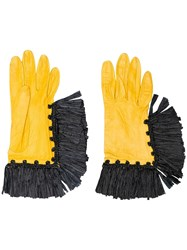 Christian Lacroix Vintage 1990'S Haute Couture Gloves Yellow And Orange