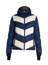 Perfect Moment Super Dry Quilted Down Jacket Blue White