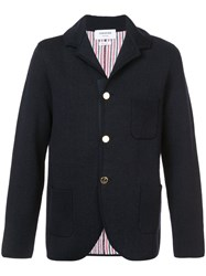 Thom Browne Double Knit Sport Coat With Red Grey