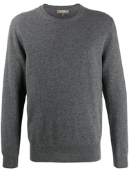 N.Peal The Oxford Crew Neck Jumper Grey