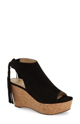Women's Marc Fisher Ltd 'Sueann' Platform Wedge Sandal Black Suede