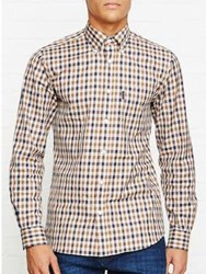 Aquascutum London Emsworth Ls Cc Shirt Tan