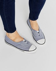 Converse All Star Chambray Blue Cove Plimsoll Trainers Roadtrip Blue