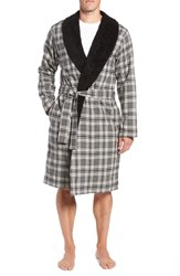 Ugg Kalib Robe Charcoal Plaid
