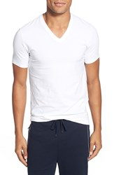 Men's Boss 'Motion' V Neck T Shirt White
