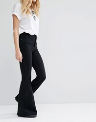 Dr. Denim Dr Denim Tracy High Waist Skin Tight Super Flare Jeans Black