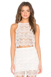 Indah Kera Lace Up Back Tank White