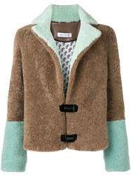 Saks Potts Colour Block Jacket Brown