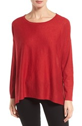 Eileen Fisher Women's Tencel Lyocell Blend Ballet Neck Top China Red