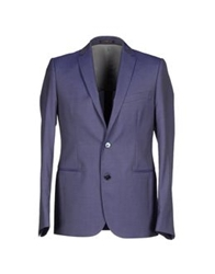Royal Hem Blazers Dark Purple