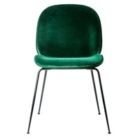 Gubi Beetle Dining Chair Green Velvet With Black Legs