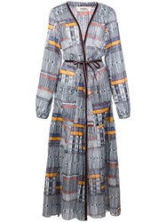 Lemlem Kente Printed Robe Dress Blue
