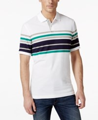 Club Room Men's Big And Tall Glendale Stripe Polo Only At Macy's Bright White