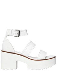 Windsor Smith 80Mm Sada Leather Sandals White