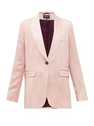 Ann Demeulemeester Yana Single Breasted Satin Jacket Light Pink