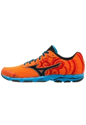 Mizuno Wave Hitogami 2 Lightweight Running Shoes Vibrant Orange Black Diva Blue