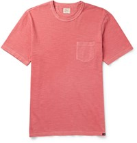 Faherty Slub Cotton Jersey T Shirt Red