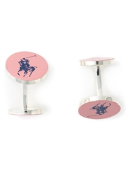 Polo Ralph Lauren Logo Detail Cufflinks Pink And Purple