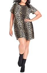 City Chic Plus Size Animal Sense Tunic Top