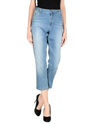 22 Maggio Denim Denim Trousers Women Blue