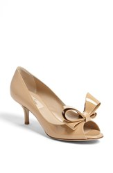 Women's Valentino Couture Bow Pump Beige Patent