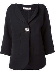 Marni V Neck Blazer Black