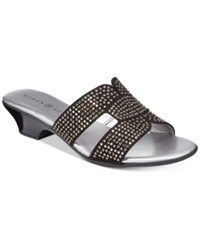 Karen Scott Esmayy Slide On Sandals Black