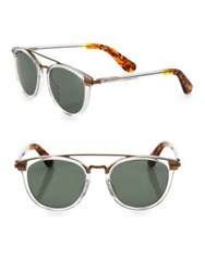 Toms Sun Harlan 51Mm Double Bridge Round Sunglasses Silver