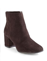 424 Fifth Elyssa Suede Ankle Boots Coffee