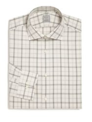 Ike Behar Regular Fit Lion Check Dress Shirt