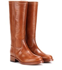 Etro Leather Boots Brown