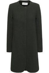 Goat Redgrave Wool Crepe Coat Army Green