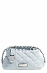 Catherine Catherine Malandrino 'Small Martine' Quilted Crossbody Bag Blue Sky