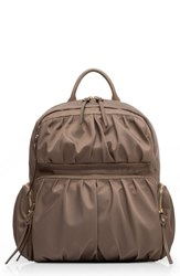 M Z Wallace Mz Madelyn Bedford Nylon Backpack Brown Sable Bedford