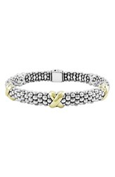 Lagos Women's 'X' Two Tone Rope Bracelet